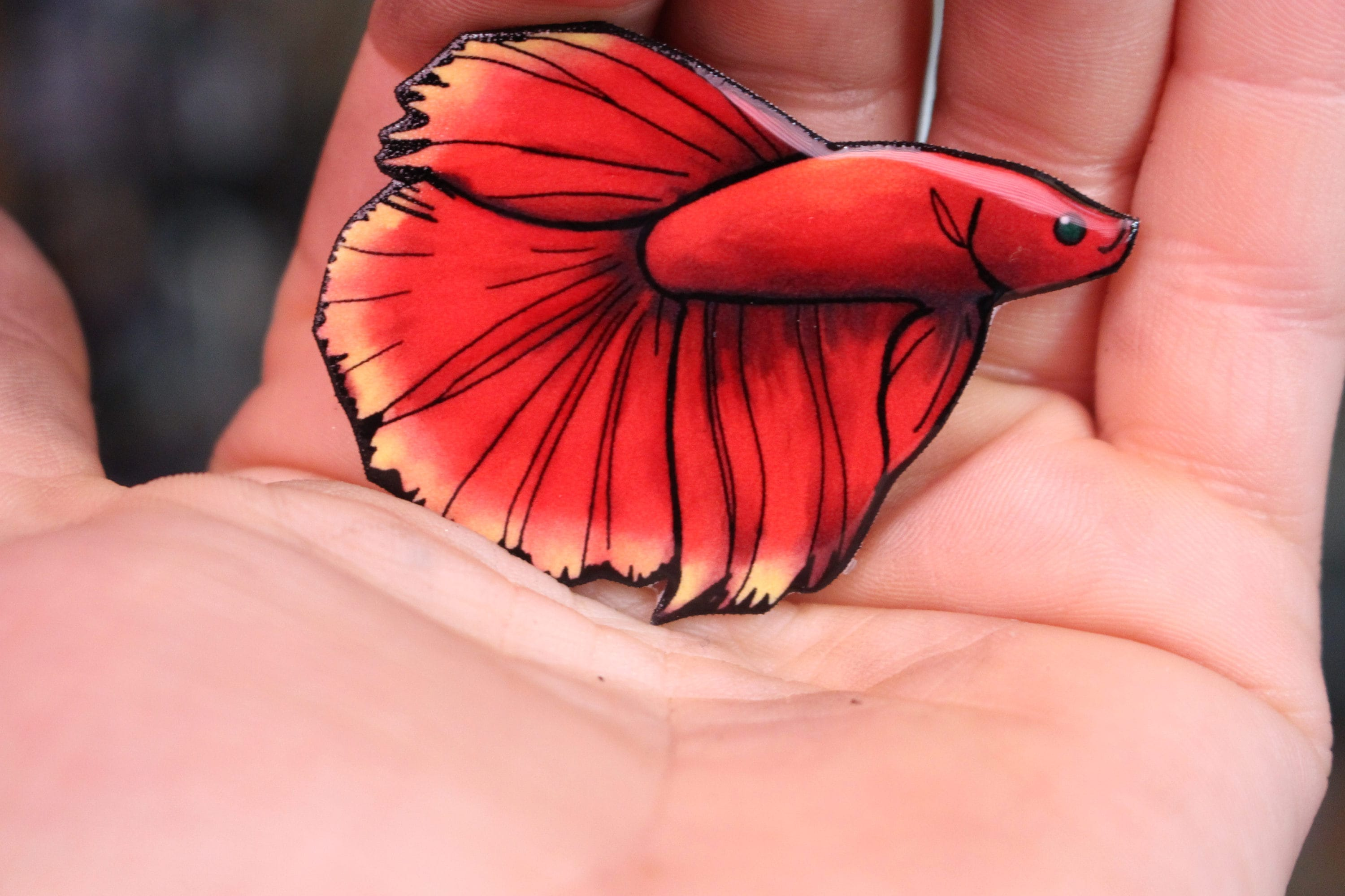 Betta Fish Magnet: great gift for fish lovers for locker