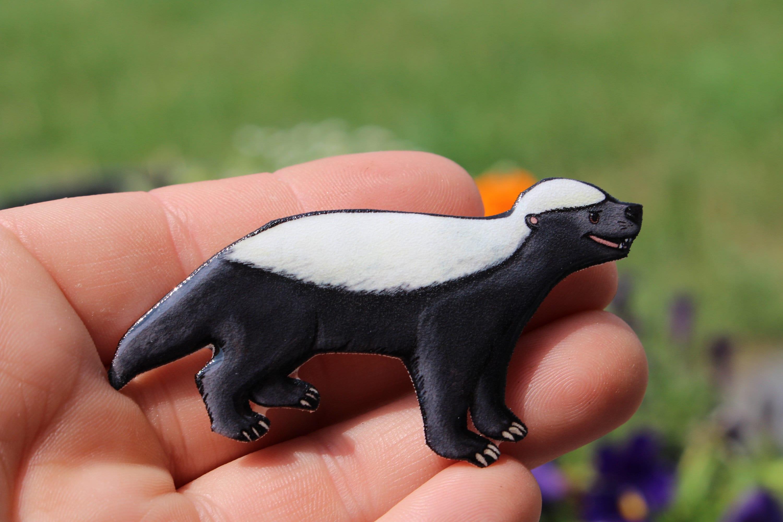 200bf00954560 Honey Badger Ratel magnet: Honey Badge lover gift Ratel Cute animal magnets  for car locker or fridge