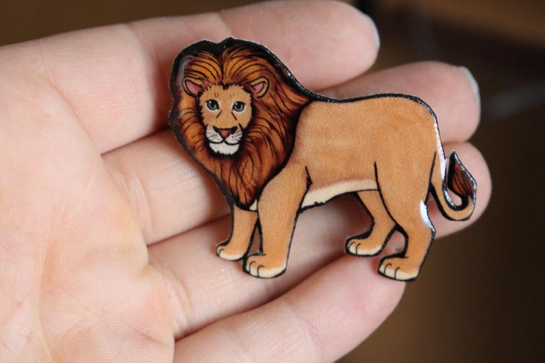 362b67a0da03d Lion magnet: Gift for lion lovers Present Cute African Animal magnets for  car locker or fridge