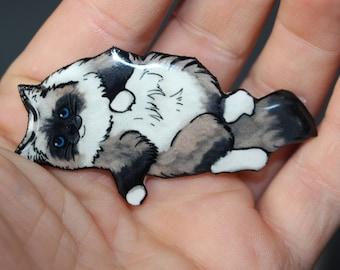 Rag Doll Cat Magnet for car locker and fridge Great gift for cat lovers
