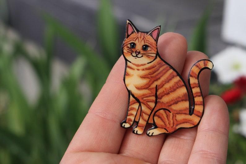 ccdf29ca317d8 Tabby Cat Magnet: Gift for tabby cat lover or tabby cat loss memorial Cute  animal cat magnets for car locker or fridge