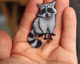 Racoon Magnet for Locker Car or Fridge: Great gift for raccon lovers