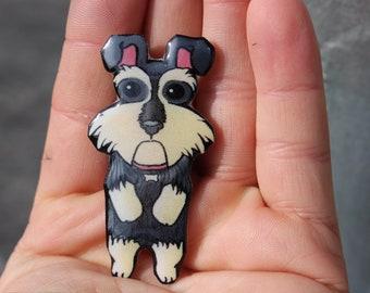 Schnauzer Magnet for car locker or Fridge: great gift for dog lovers Schnauzer loss memorial
