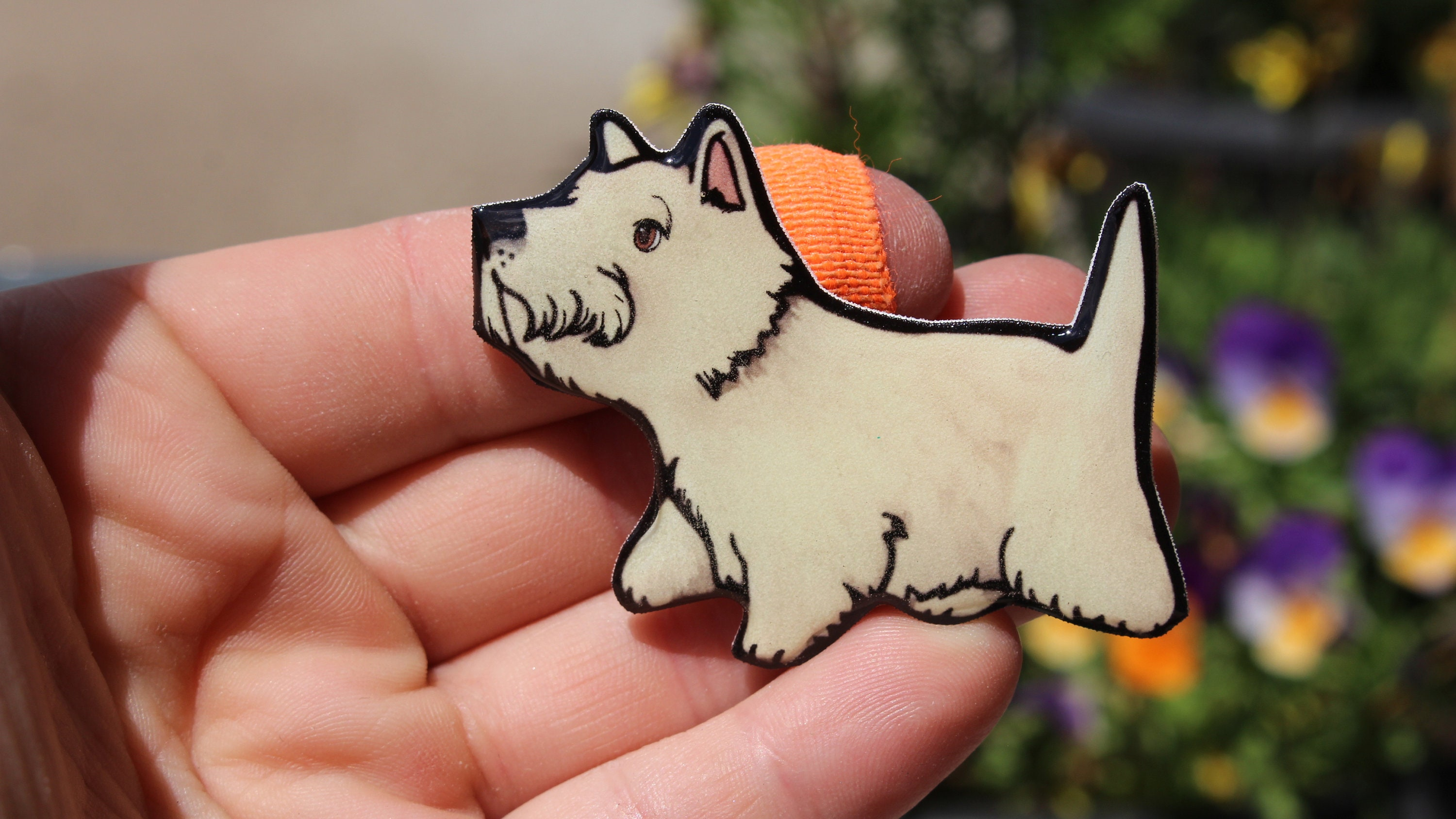 PAIR OF FOX TERRIER SHOW DOGS IN TRANSIT STICKERS