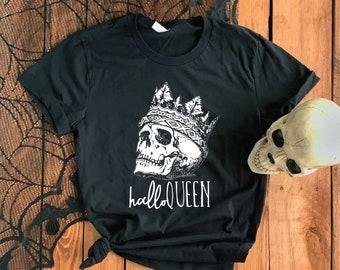 Halloqueen Short-Sleeve Unisex T-Shirt - Queen of Halloween Danse Macabre Memento Mori Dark Humor Gothic Fashion Horror Black Magic T Shirt