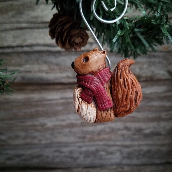 Christmas Squirrel.Squirrel Ornament Christmas Squirrel Squirrel Decoration Squirrel Art Squirrel Rescue Christmas Tree Ornament Animal Wildlife Rescue