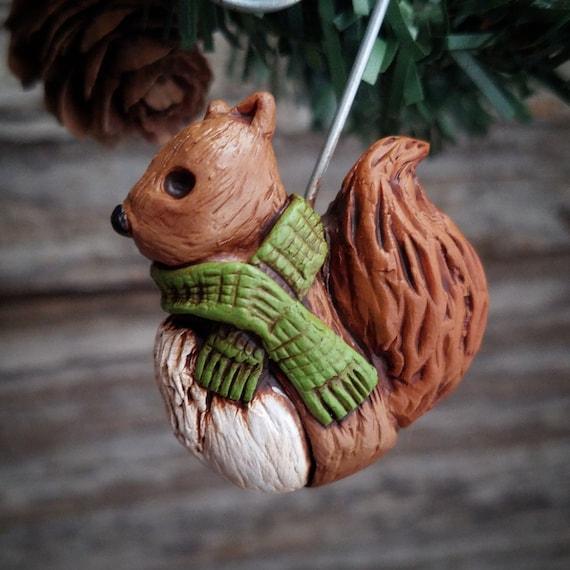Christmas Squirrel.Squirrel Ornament Christmas Squirrel Squirrel Decoration Squirrel Art Squirrel Rescue Woodland Christmas Tree Ornament Animal Rescue