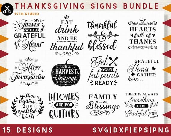 Thanksgiving Signs Svg Bundle Thanksgiving Svg Bundle Svg Etsy