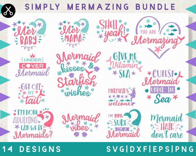 Simply Mermazing Mermaid Svg Design Mermaid Tail Svg Files Dxf Png