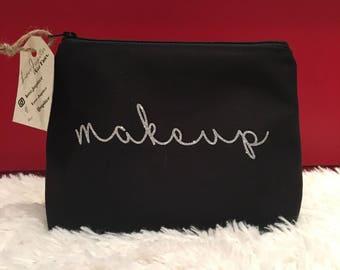 Glitter Makeup Bag, Cosmetic Bag, Toiletry Bag, Travel Bag