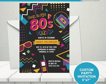 retro invitation etsy