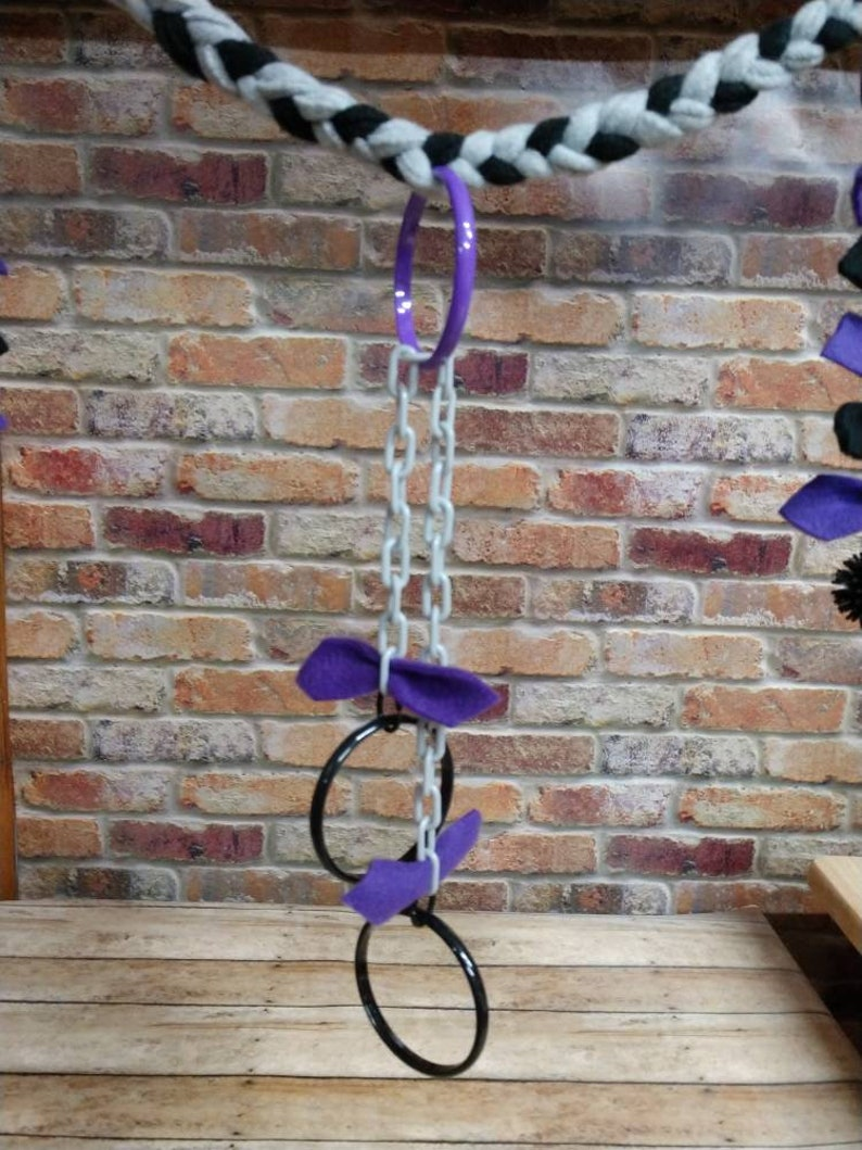 Jungle rope,braided rope vine,sugar glider jungle rope,marmosets,sugar glider Braided Rope Purple,black,grey,pulley reset toy,reset toy