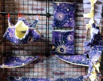 Sugar glider set, Zodiac Celestia,suggie bedding, sugar glider set, marmoset set, rat set, glider accessories, holiday gifts,christmas gifts