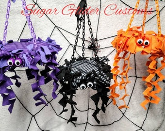 Hanging spider Halloween Trampolines toy,reset toy, spider trampoline,swinging trampoline, marmosets, sugar gliders,christmas gifts,gift