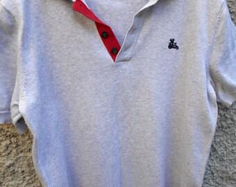 696462b4 Vintage polo shirt Simon Carter Gray polo shirt Vintage clothing Men polo t- shirt Mens casual polo Rare polo sweatshirt Mens grey t-shirt