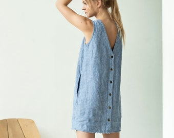 539a9323f3bd3 NEW Short linen summer dress