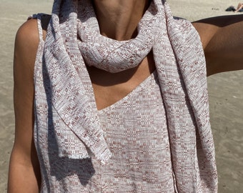 Pure linen summer scarf women and men, sustainable clothing, linen accessory