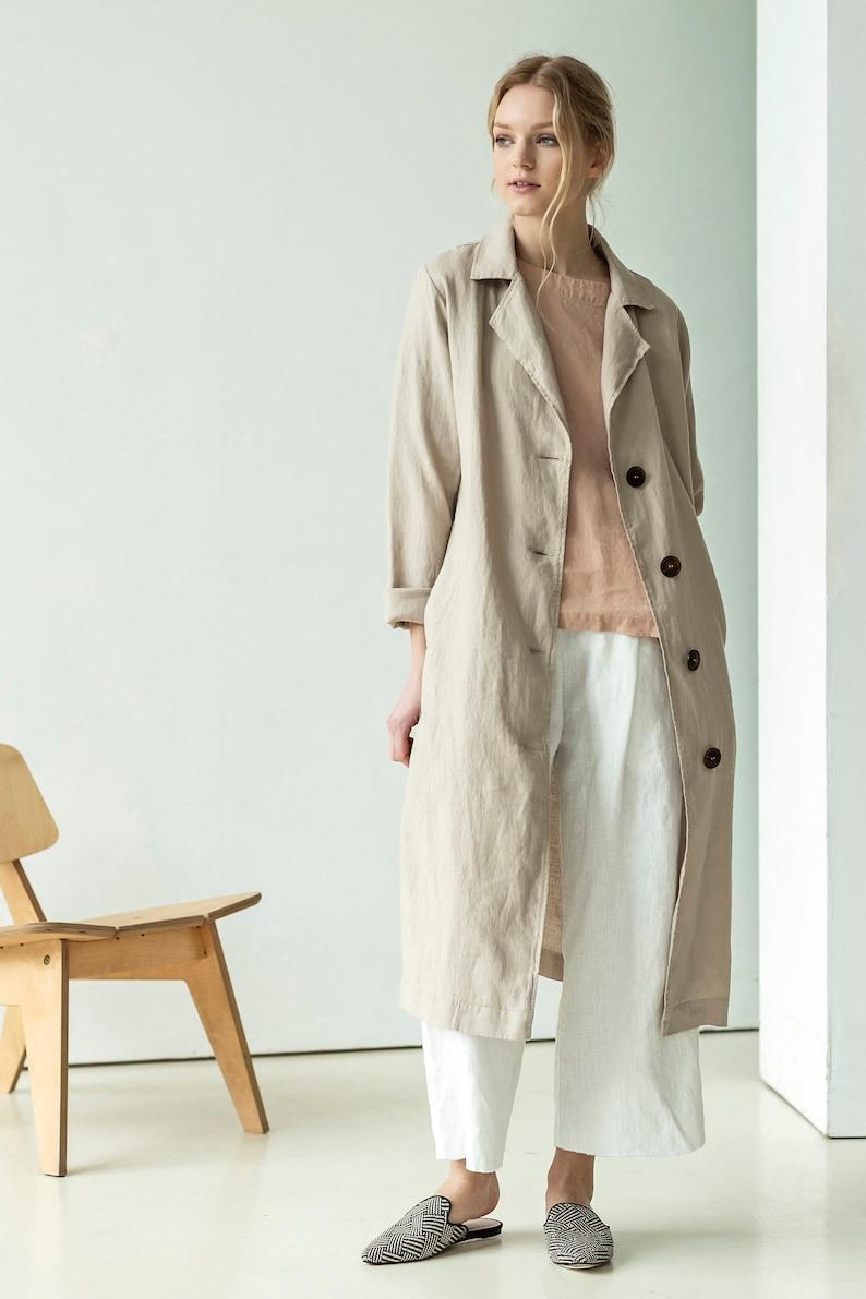 Camel coat, linen peacoat, classic linen coat, beige linen jacket, vintage trench coat, beige trench coat, camel trench coat