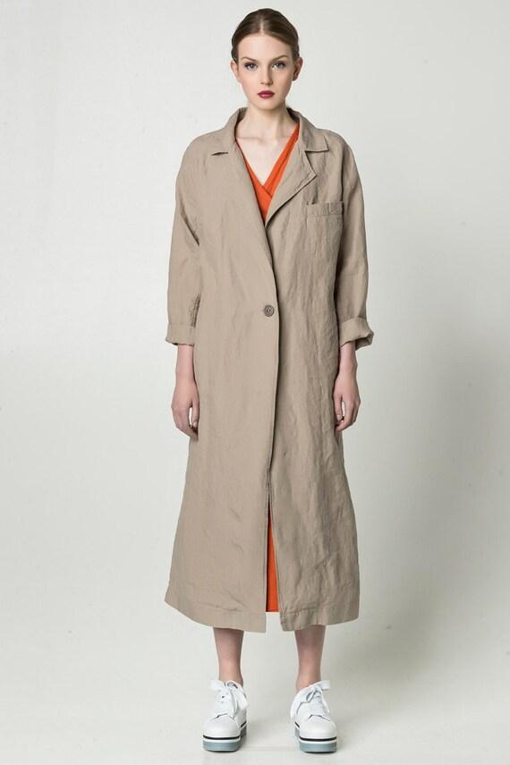 sneakers for cheap wide varieties great deals Women's linen coat, linen raincoat, linen coat dress, linen parka, summer  coat, summer raincoat, womens raincoat, women's blazer