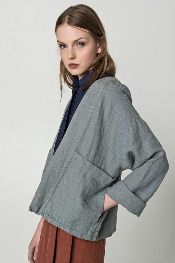 Linen Kimono Jacket JONELLE LINEN BLAZER