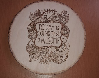 wooden Awesome plaque wall hanger
