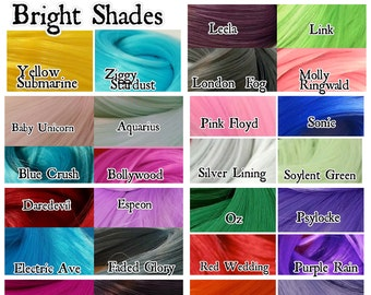 30 Hank Bright Color Variety Pack Nylon Doll Hair for Rerooting Barbie, Monster High, Ever After, Rehair My Little Pony INTL SHIP