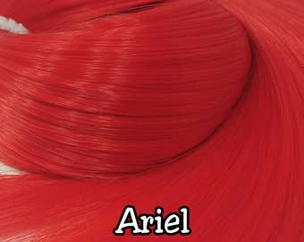 Ariel Bright Red Nylon Doll Hair Hank for Rerooting Barbie® Monster High® Ever After High® My Little Pony Fashion Royalty Disney