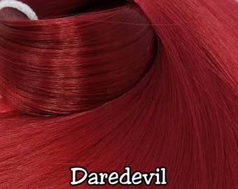 Daredevil Dark Red Nylon Doll Re-rooting Hair Hank Fashion Doll, Monster Ever After, Integrity, Blythe, Rehair My Little Pony Intl Ship