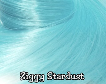 Ziggy Stardust Light Sky Blue Nylon Doll Hair Hank for Rerooting Barbie® Monster High® Ever After High® MLP Fashion Royalty Disney