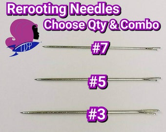 COMBO PACK Rerooting Needles Choose 8, 12 or 24 pack For Rerooting Rehairing Fashion Dolls Small and Large & Mlp