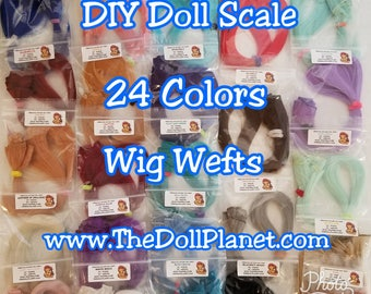 "NEW 24 COLOR CHOICES x1 Super Long 20"" Wig Weft High Temp Premium Nylon for Wig Making Blythe, American Doll, Pullip, Monster High 18 inch"