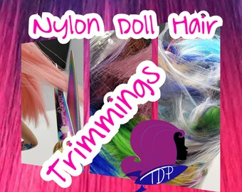 Dark Blue /& Magenta XL 2 Color Value Pack Nylon Doll Hair Rooting Barbie FR MLP
