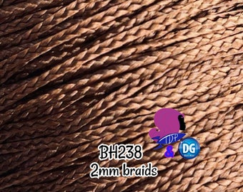 CELEBRATING 6 YEARS DG-Hq™ Nylon Micro Mini Braids Light Brown #Bh238 2mm Doll Hair Rerooting Barbie™ Monster High™ Rainbow High