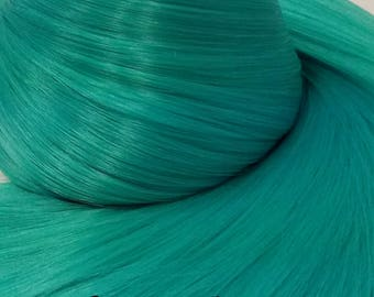 Hatsune Green Teal Green Nylon Doll Hair Hank for Rerooting Barbie® Monster High® Ever After High® My Little Pony Fashion Royalty Disney