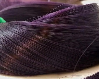 Grapes of Wrath Dark Purple Nylon Doll Hair Hank for Rerooting Barbie® Monster High® Ever After High® My Little Pony Fashion Royalty Disney