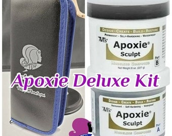 CELEBRATING 6 YEARS Apoxie Sculpt 2 Part Air Dry Clay & Tools Deluxe Kit for Customizing OOAK Kit Bashing Molding Sculpting Dolls Action Fig