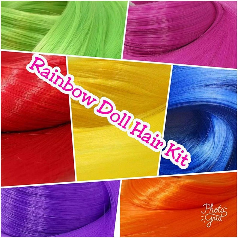 Dark Blue /& Magenta XL 2 Color Value Pack Nylon Doll Hair Rooting Barbie FR MLP