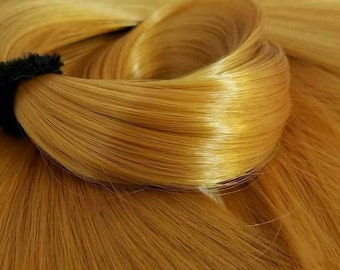 Midas Touch Brassy Golden Blonde Nylon Doll Hair Hank for Rerooting Barbie® Monster High® Ever After High® MLP Fashion Royalty Disney
