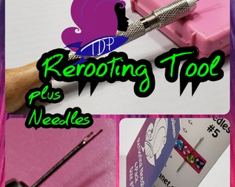 Doll Hair Rerooting Tool Kit with Rerooting Needles for Barbie® Monster High® Ever After High® My Little Pony Fashion Royalty Disney