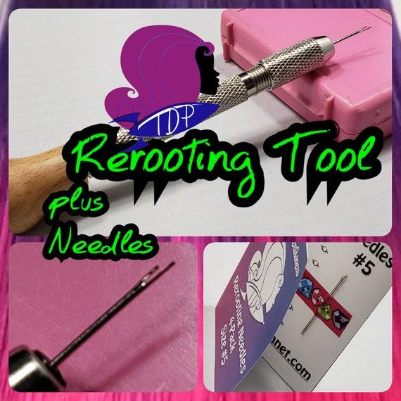 8-Pack Steel Rooting Needles Choose #3 #5 or #7 for Rerooting Doll Hair Tool