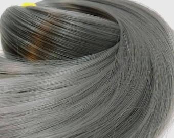 London Fog Dark Grey Nylon Doll Hair Hank for Rerooting for Barbie® Monster High® Ever After High® My Little Pony Fashion Royalty Disney