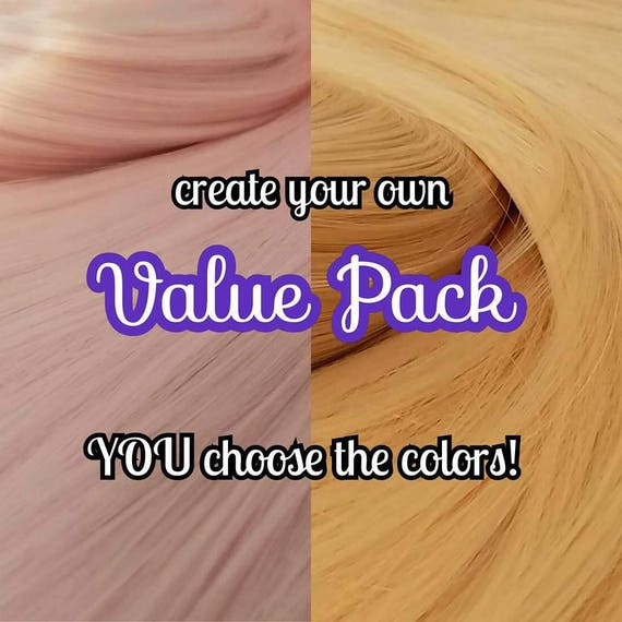 Light Blonde /& Auburn Red XL 4oz 2 Color Value Pak Nylon Hair Reroot MLP Barbie