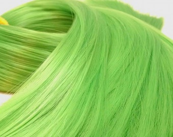 Link Shamrock Green Nylon Doll Hair Hank for Rerooting Barbie® Monster High® Ever After High® My Little Pony Fashion Royalty Disney