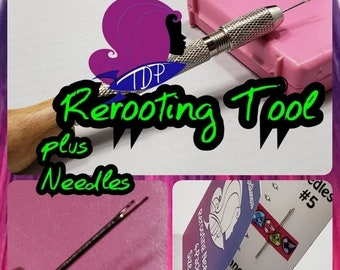 CELEBRATING 6 YEARS Doll Hair Rerooting Tool Kit with Rerooting Needles for Barbie® Monster High® Ever After High® My Little Pony Fashion Ro