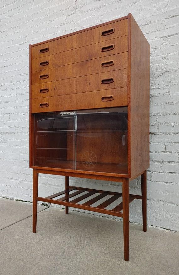 Mid Century Modern Danish Inspired Teak Cabinet