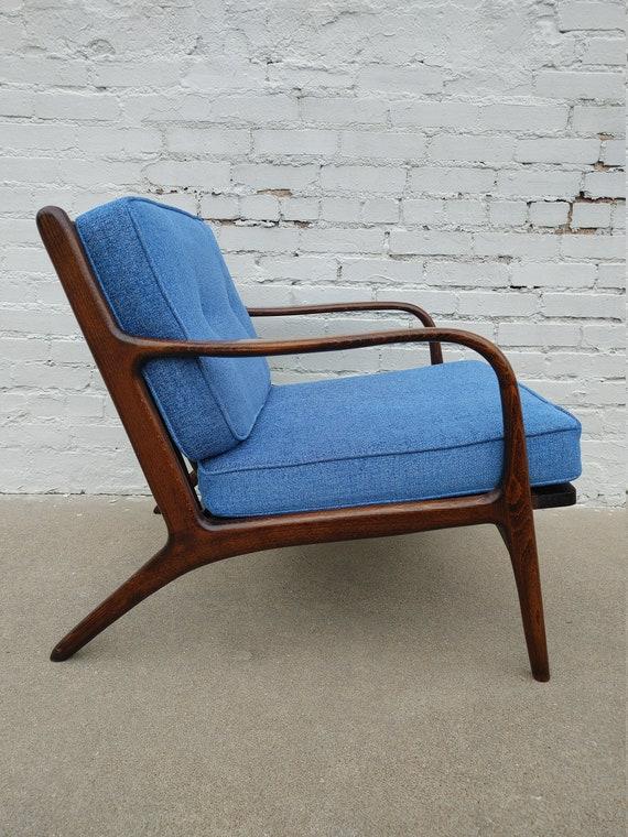 Mid Century Modern Adrian Pearsall Walnut Lounge Chair