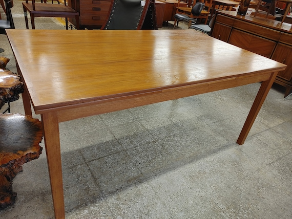 Mid Century Modern Danish Ansager Mobler Extendable Dining Table