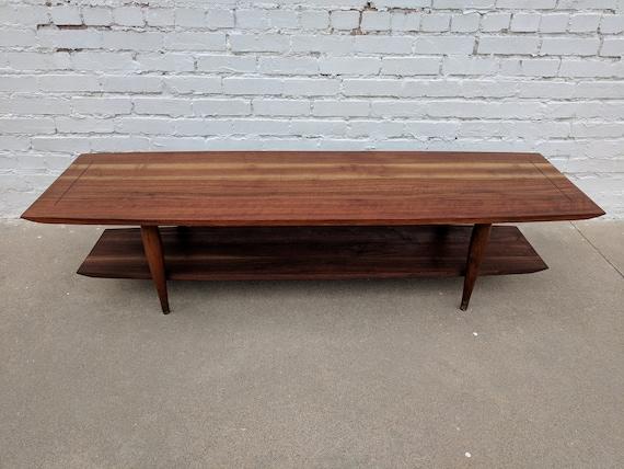 Mid Century Modern Bissman Solid Walnut Coffee Table