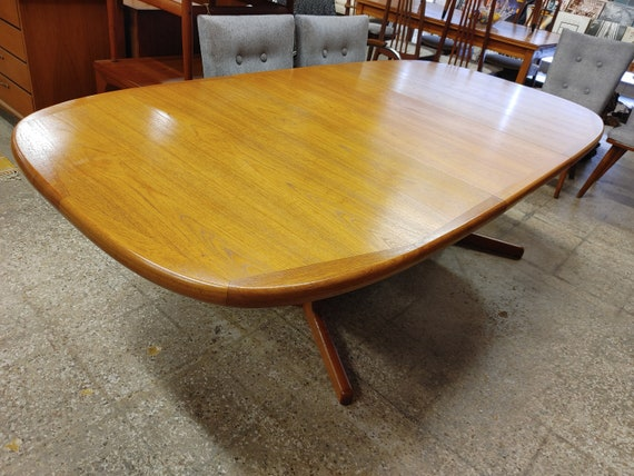 Mid Century Modern Danish Teak Dining Table
