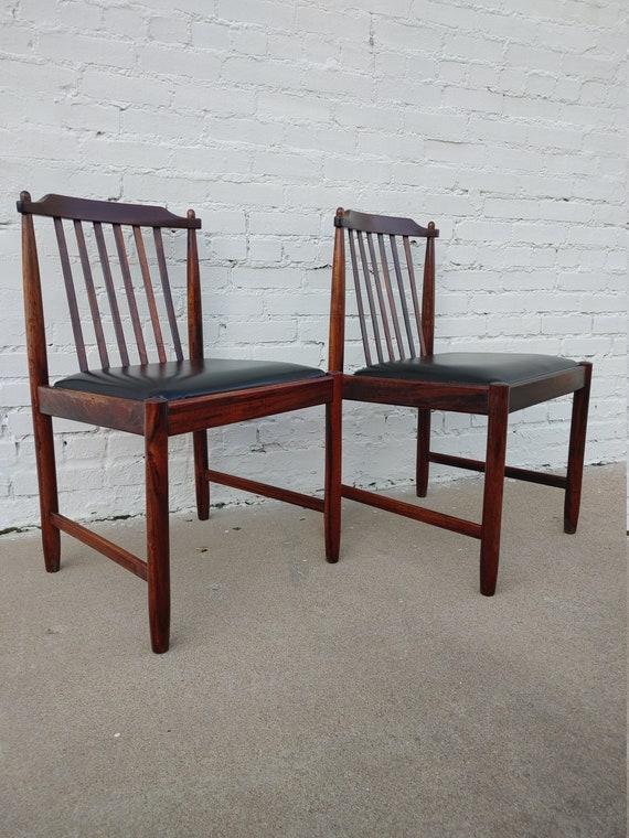 Mid Century Modern Arne Vodder Inspired Rosewood Chairs